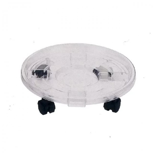 Plant Caddy (Transparent), Roller, Stand for Plant Pots on Wheels - perfect for wheeling plants to different positions!